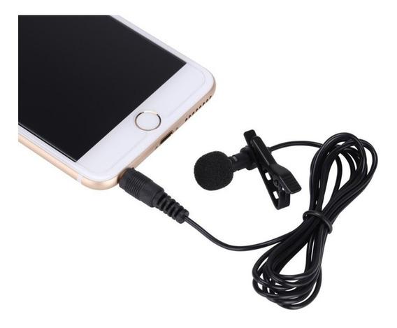 Kit 1 Microfone Lapela P/celular Android + 01 Cabo Extensão