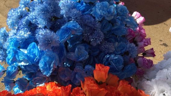 Lote Flores Artificiais Rosa Crisântemo Atacado 100 Unidades