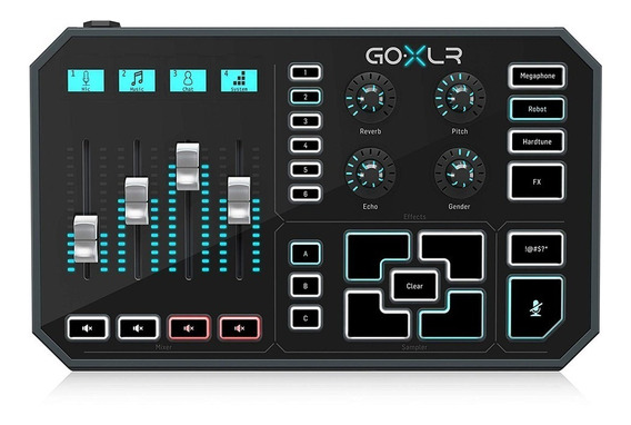 Mixer Multi-efeitos Streaming Gameplay Tc Helicon Go Xlr Nfe
