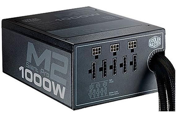 Fonte 1000w Cooler Master Silent Pro M2 80 Plus Prata Pfc