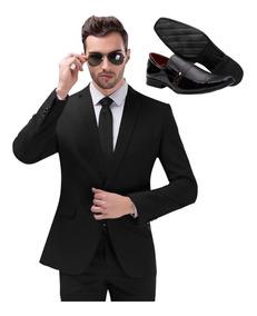 Ternos Masculinos Slim Fit Completo Paletó E Calça + Sapato