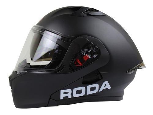 Imagen 1 de 6 de Casco Abatible Para Moto Roda Rush Svs Negro Mate