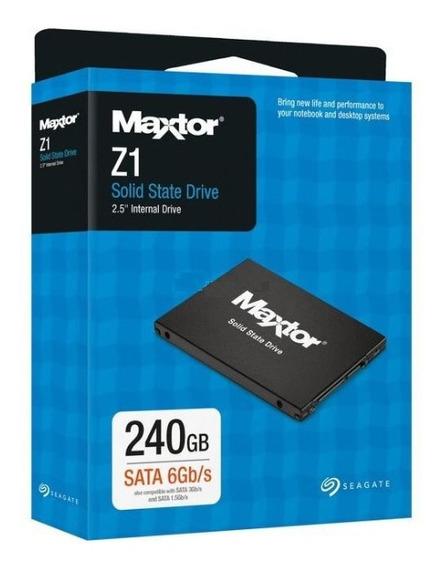 Ssd Seagate Maxtor Z1 240gb, Sata 6gb/s, Leitura 540mb/s, Gravação 475mb/s - Ya240vc1a001