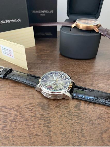Relógio Armani Automático Ar4629 100% Original + Documentos