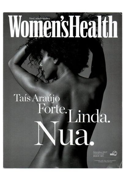 Revista Womenshealth Taís Araújo Forte Linda Nua Setem/2017