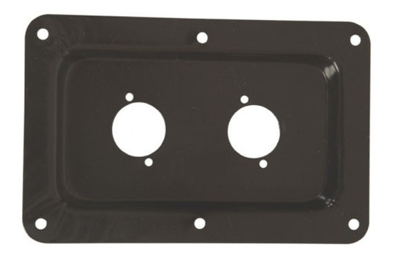 2 Espelhos P/ Conector Xlr 2 Furos