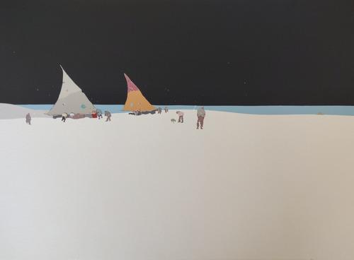 Cuadro Serigrafía Bruno Widmann Playa