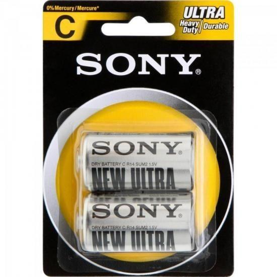 Pilha Zinco Carbono C Ultra Heavy Duty Sum2-nub2a Sony
