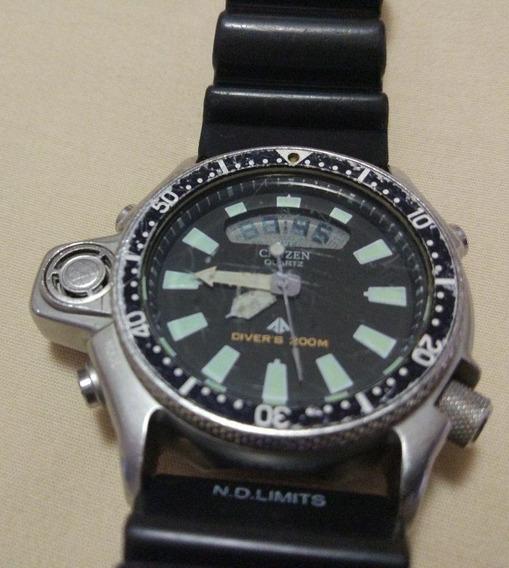 Citizen Aqualand Jp2000-08e Relançamento Prata Original