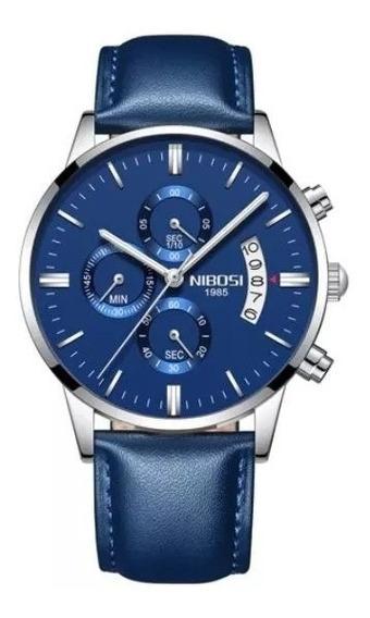 Relógio Masculino Nibosi 2309 Azul
