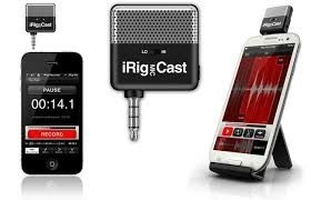 Irig Mic Cast Ik Microfone P/ iPhone iPad Smartphone Android