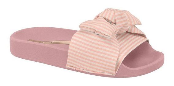 Chinelo Infantil Molekinha Tecido Laço Rosado 2311.103