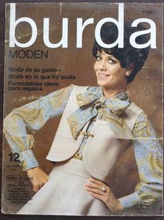 Revista Burda Moden Cartel Publicidad Kiosko Diciembre 1968
