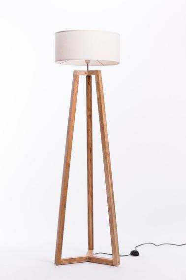 Lampara De Pie De Madera Diseño Moderno Nordico Minimalista