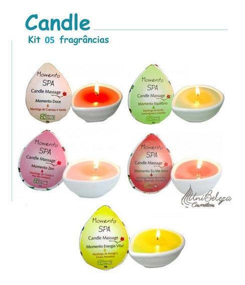 Candle Velas Massagem Relaxante Kit 4un Epidermis