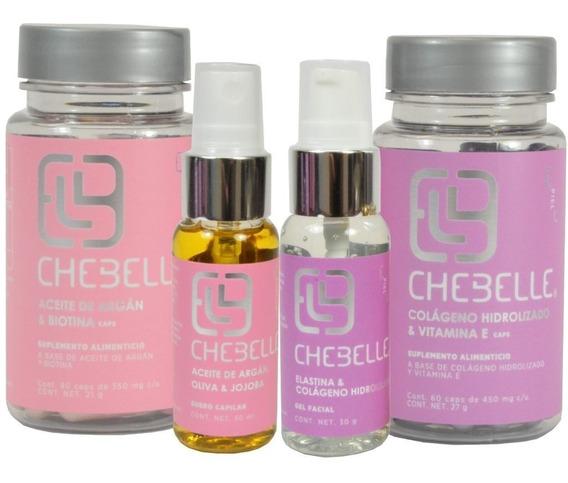 Combo 4 Piezas Chebelle Tratamiento Completo Cabello Y Piel