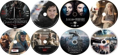 Game Of Thrones  1ª Á 8ª Temporadas 16 Dvds - Envio Já