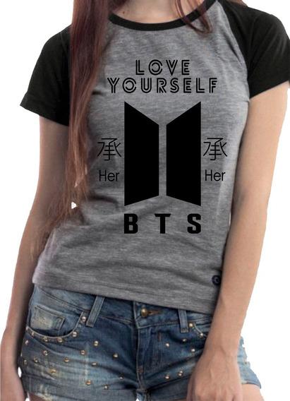 Camiseta Babylook K-pop Bts Todos Os Bias Promoção