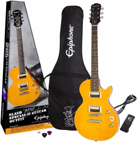Guitarra EpiPhone Les Paul Special Slash Afd Signature + Bag