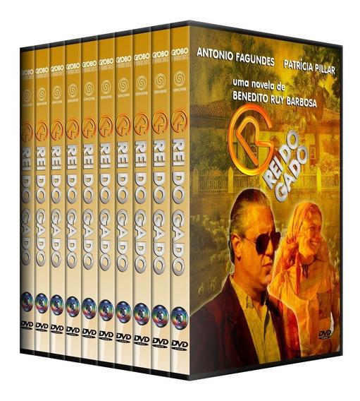 Novela Rei Do Gado 72 Dvds Completo, Lindo Box!