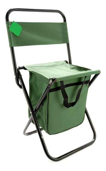 Cadeira Camping Pesca Praia Dobrável C/ Porta Objetos Canive