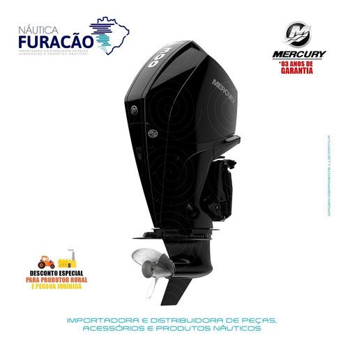 Motor De Popa Mercury 4 Tempos 300hp Xl V8 Mecânico Preto