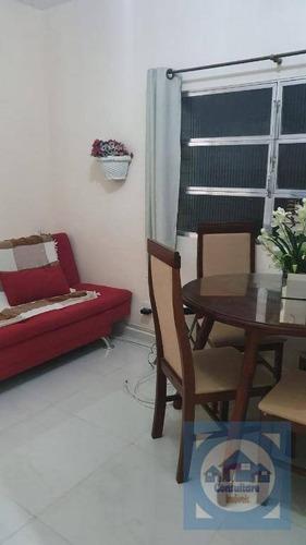Apartamento Com 1 Dormitório À Venda, 35 M² Por R$ 196.000,00 - José Menino - Santos/sp - Ap5262