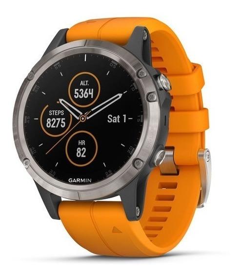Garmin Fênix 5 Plus Orange Band - Novo - Lacrado