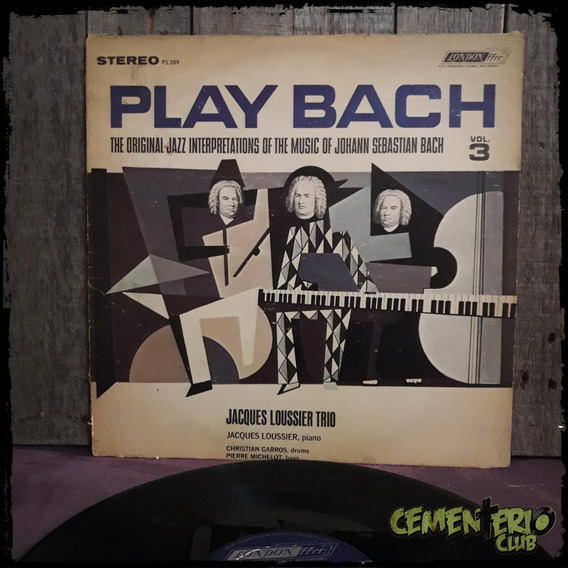 Jacques Loussier Trio - Play Bach Vol. 3 - Usa - Vinilo / Lp