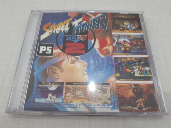Street Fighter Zero 2 Patch Prata Prensado Playstation Ps1 A