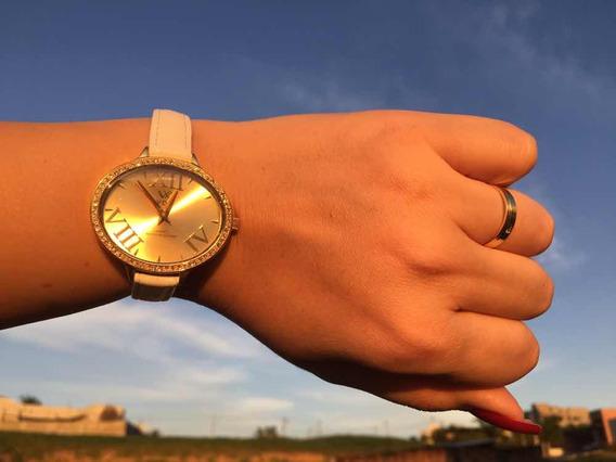 Relógio Feminino Branco Vox Roma