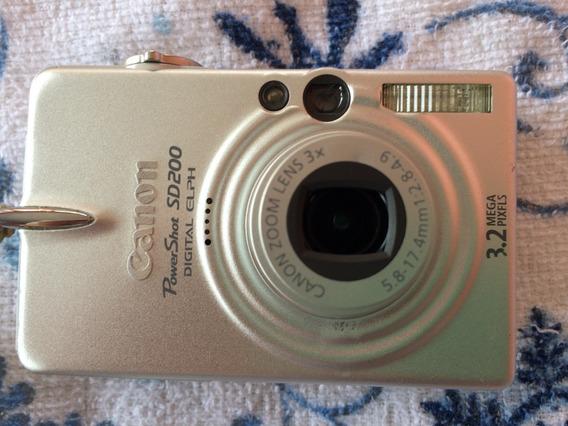 Canon Powershot Sd200 Digital Elph 3.2mpx Colecionadores