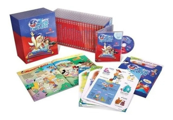 Coleção Original Videoteka Disney Magic English 26 Dvds