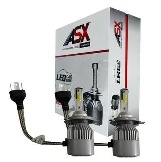 Kit Lâmpada Super Led Fusca H4 60w 6500k 6500 Lumens Asx