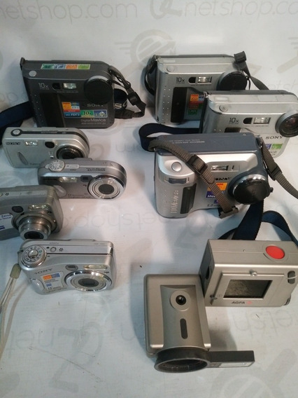 Lote De Câmeras Fotográficas Sony,agfa Modelos Mvcfd100 Etc