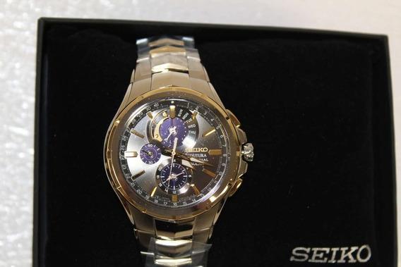 Relógio Seiko Coutura Solar Perpetual Chronograph Ssc376