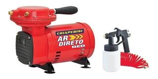 Compressor Ar Direto Red Bivolt + Kit De Pintura Chiaperini