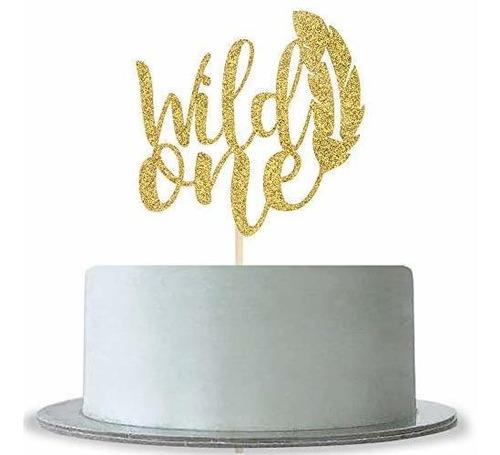 Wild One Cake Topper Para Baby Shower, Baby 1st Birthday Boy