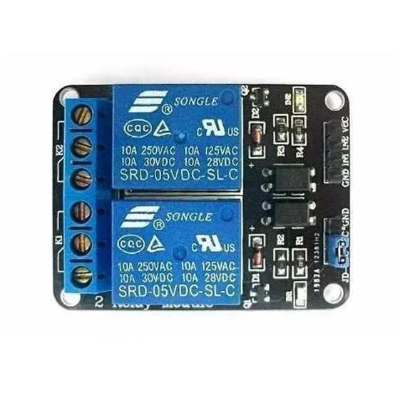 Módulo Relé 2 Canais 5v | Arduino, Pic, Raspberry, 15~20ma
