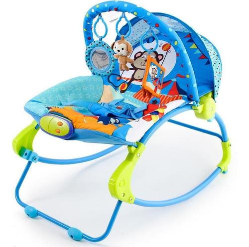 Cadeira Descanso Musical Vibratória Circo Dican Azul