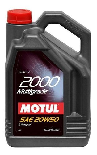 Aceite 20w50 Motul 5 Lts 2000 Nafta Obsequio - Tyt