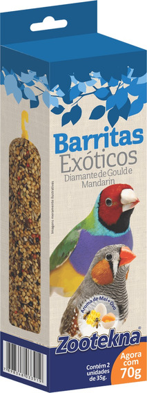 Barrita Para Pássaros Exoticos - 70 G