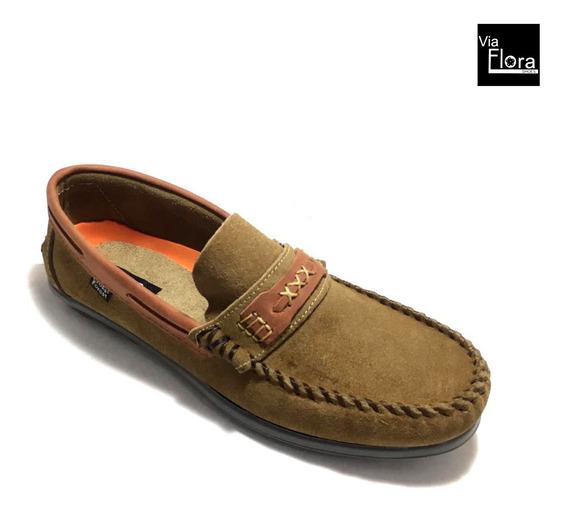Zapatos Nauticos De Hombre Gamuza 100% Cuero (me/1028)