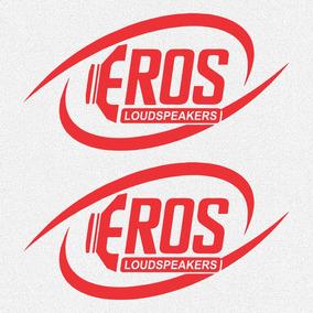 Kit 2x Adesivos Eros Som Automotivo Carro 25cm A489