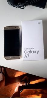Celular Samsung Galaxy A7 2017 Dourado