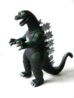 Dinosaurio Godzilla Goma 02 Grande Verde Dino Juguetes