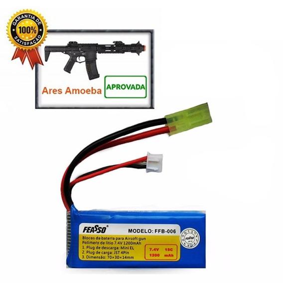 Bateria Lipo 7.4v 1200mah 15c Ffb-006