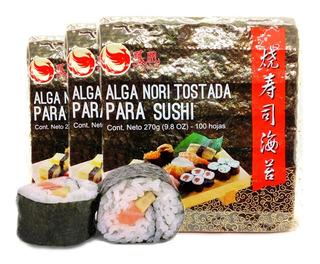 Algas Nori Tostada Para Sushi Combo X300u