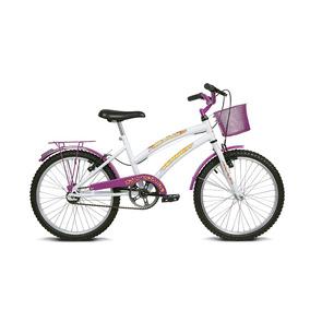 Bicicleta Infantil Aro 20 Breeze Branco E Pink Verden Bikes