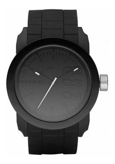 Relógio Diesel Masculino Silicone Fundo Preto Dz14378pn